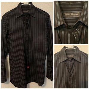Salvatore Ferragamo Men's Sz S/M Button Down Shirt